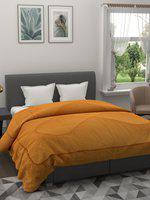 A Homes Grace Copper-Toned Solid Heavy Winter 400 GSM Double Bed Quilt