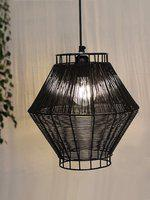 TIED RIBBONS Black Textured Pendant Ceiling Lamp