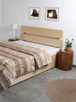 House This Brown & White Printed Double Bed Duvet Cover