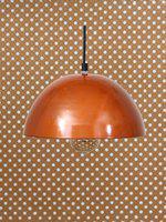 eCraftIndia Copper-Toned & Black Solid Ceiling Lamp