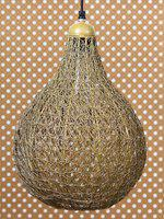 eCraftIndia Gold-Toned Finish Wire Mesh Ceiling Lamp