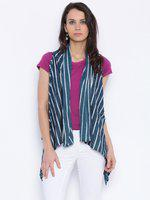 109F Blue Striped Shrug