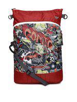 Wildcraft Unisex Red & Grey Printed Messenger Bag