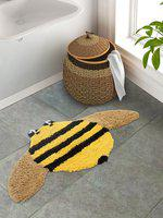 S9home By Seasons Kids Yellow, Beige & Black Bath Mat