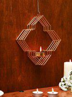 Unravel India Gold-Toned Hanging Candle Holders