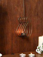Unravel India Metallic Hanging Candle Holder