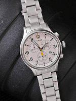 Timex Men Cream-Coloured Chronograph Watch