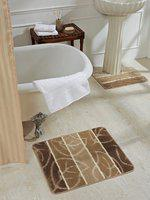 Obsession Beige Set Of 2 Rectangular Bath Rugs