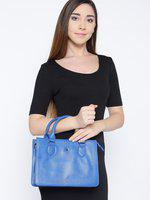 United Colors of Benetton Blue Solid Handheld Bag with Sling Strap