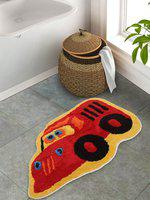 S9home by Seasons Multicoloured Printed Red Bath Mat
