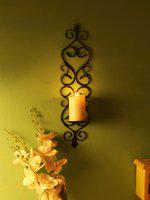 Home Sparkle Black Vertical Iron Tealight Candle Holder