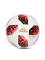 ADIDAS Men White & Red FIFA World Cup Knockout Official Match Football