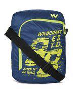 Wildcraft Unisex Blue U Sling Printed Messenger Bag