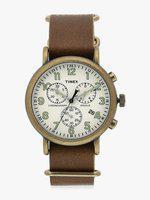 Brown/Cream Chronograph Watch