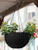 Story@home Black Hanging Pot Planter