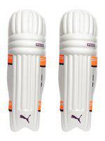 Puma White & Orange EVO 7 MD Batting Pad