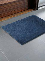 CORE Designed by SPACES Blue Solid 1600 GSM Rectangular Bath Rug