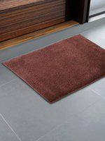CORE Designed by SPACES Maroon Solid 1600 GSM Rectangular Bath Rug