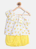 Nautinati Baby girl Top & bottom set - Yellow & White
