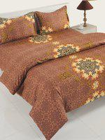 SWAYAM Brown Printed Bedding Set with Comforter