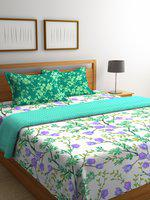 Portico New York Sea Green & White Floral AC Room 120 GSM Bedding Set