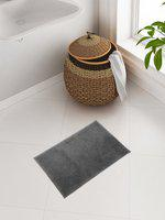 CORE Designed by SPACES Charcoal Grey Solid Plush Bath Rug
