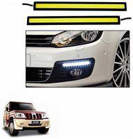 A2D White LED Lights Fog Light Car DRL Day Time Running Lights-Mahindra Bolero