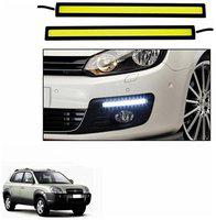 A2D White LED Lights Fog Light Car DRL Day Time Running Lights-Hyundai Tucson
