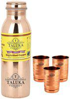TALUKA Copper Brown Water Bottle ( 1000 ml , Set of 1 )
