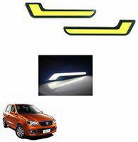 A2D L-MRC White LED Lights Fog Light Car DRL Day Time Running Lights-Maruti Suzuki Alto K10