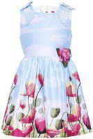 Punkster Multicolored Cotton Knee Length A-Line Dress for Girls