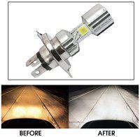 Capeshoppers Silver Missile Hi Low Beam H4 Bike Headlight Bulb For Mahindra Centuro N1