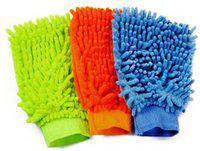 Auto Trends Sided Micro Fiber Premium Wash Mitt Gloves