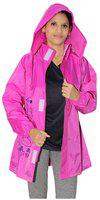 Goodluck Mickey Mouse Print Rain Jacket For Women's