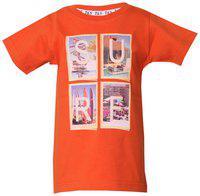 Tales & Stories Boy Cotton Printed T-shirt - Orange