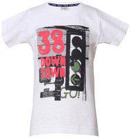 Tales & Stories Boy Cotton Printed T-shirt - White