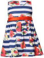 Tales & Stories Girls Blue Striped Dress