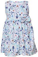 Tales & Stories Girls Printed Blue Dress