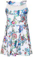 Tales & Stories Girls White Floral Printed Dress