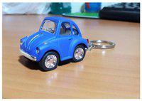 I-Gadgets Limited Edition Kinsmart Little Beetle Keychain pullback metal car Matt Finish - Blue