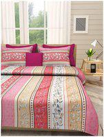 First Row Majestic Bedsheet with Two Pillow Cover