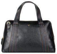Hidesign Leather Women Handheld Bag - Black