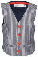 ShopperTree Boy Cotton Printed Kurta pyjama set - Grey