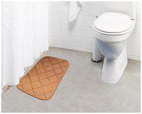Lushomes Gold Super soft memory foam bathmat ( Bathmat Size 12x 20;Single pc)