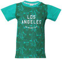 Tales & Stories Boy Cotton Solid T-shirt - Green