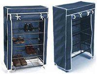 Shopper52 Plastic Shoe Rack ( Blue )