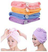 kudos New Cotton Hair Wrap Fast Drying Dryer Towel Bath Wrap Twist Quick Dry Head