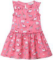 Beebay Baby girl Cotton Solid Princess frock - Pink