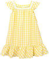 Beebay Baby girl Cotton Solid Princess frock - Yellow