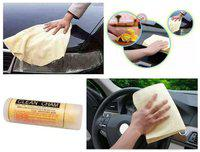 AutoSun Cham Cleaning Towel Cloth For All Car Van Trucks Bike/ home/ office.
